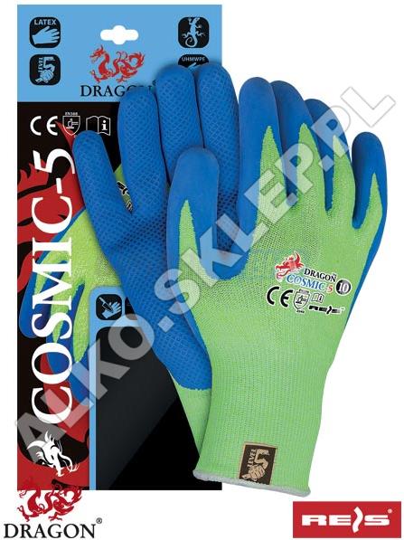 Rękawice ochronne wykonane z mieszanki włókna szklanego i przędzy UHMWPE